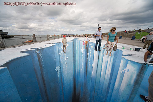 Mind blowing 3d street art paintings by edgar mueller - Arte en el piso 3d ...