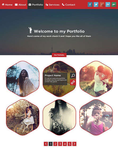 20 Best PSD Templates for Portfolio Websites