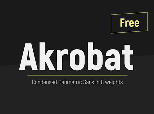 Akrobat Free Font