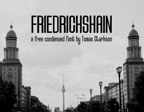Friedrichshain Free Font