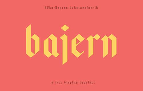 Bajern Free Hipster Font