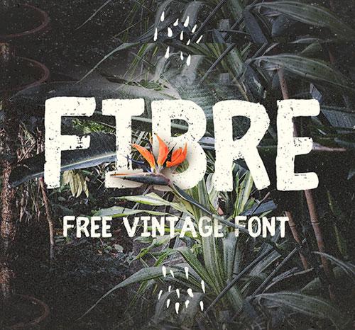 Fibre (Vintage) Free Font